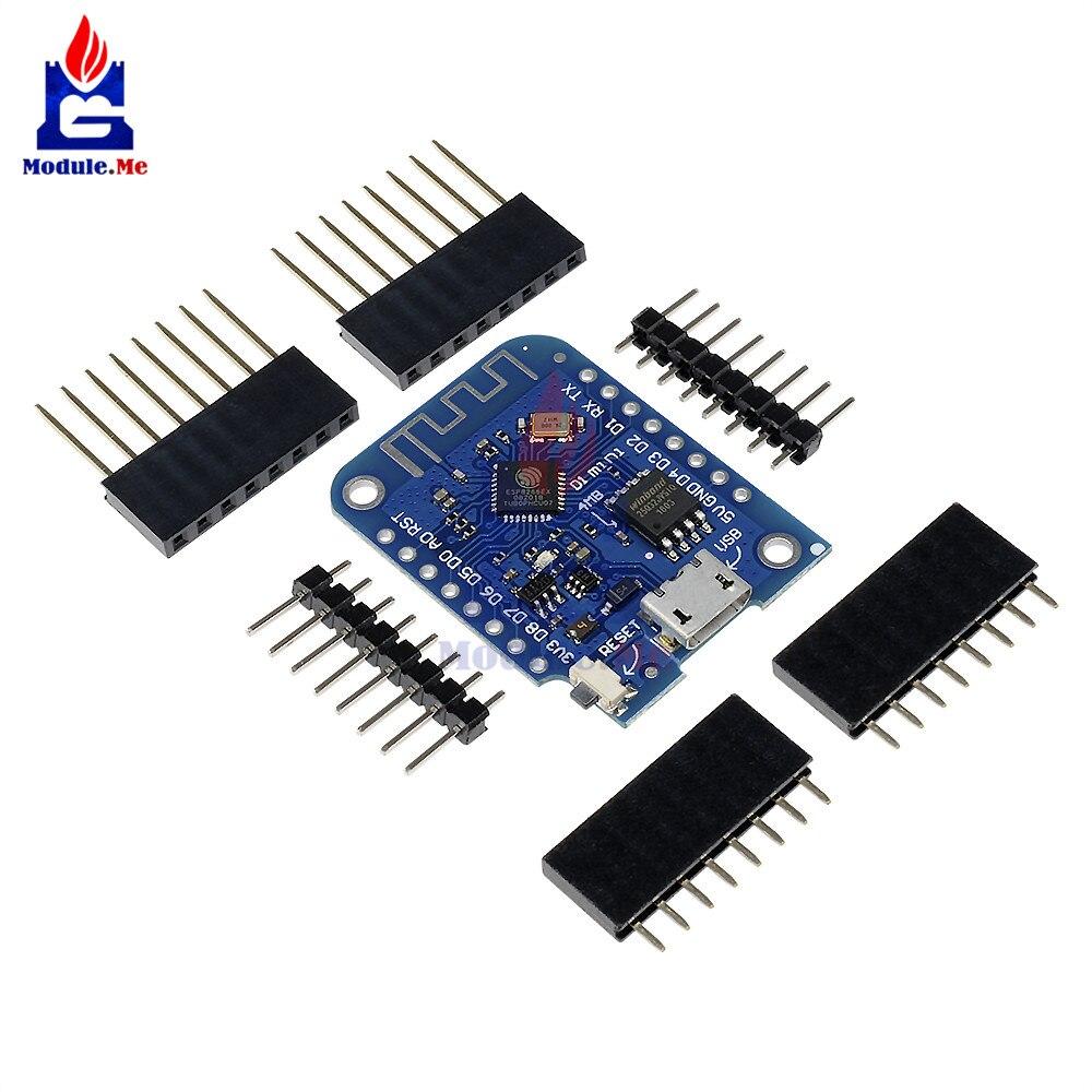 Wemos D1 Mini V3.0.0 WIFI Internet de Choses Développement Conseil Basé ESP8266 CH340 CH340G 4 mb Pour Arduino Nodemcu V2 microPython