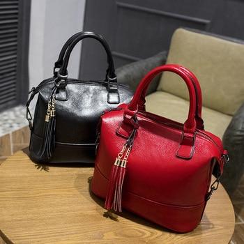 2018 Brand Ladies Fashion PU Shell Handbag Women Popular High Quality Cluth Messenger Bags Black/Red/Pink/Blue Free Shipping - discount item  40% OFF Women's Handbags