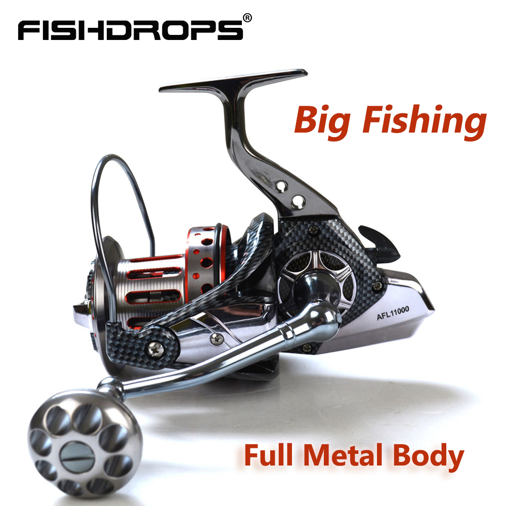 Fishdrops Surf Fishing reel Full Metal Body Spinning 4 7 1 Spinning Reel Fishing Reel Sea