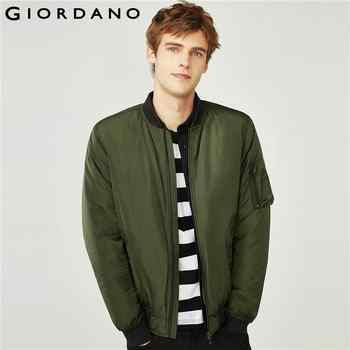 Giordano Men Jacket Thick Warm Bomber Jacket Men Quilted Cotton Mock Neck Bomber Jacket Zip Fly Pocket Casual Jaqueta Masculina - DISCOUNT ITEM  52% OFF All Category