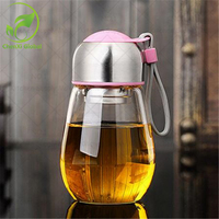 Candy Color 1 PC Penguin Design Shape 400ML Water Glass Water Bottles Outdoor Portable Travel Cup