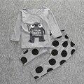 Baby Boy Одежды Случайные Девочка Одежда Мультфильм Шаблон Высокого качество Младенческой Костюм Футболка + Брюки Одежда Наборы для Детей наряды