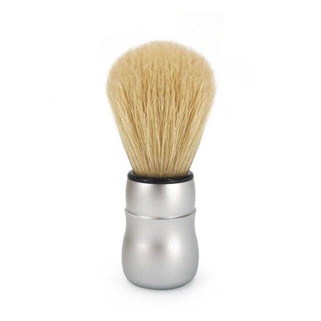 2017 New Arrival Bristle Hair Shaving Brush Aluminium Alloy Handle Barber Men's Beard Brush Facial Cleaning Tool Men's Gift