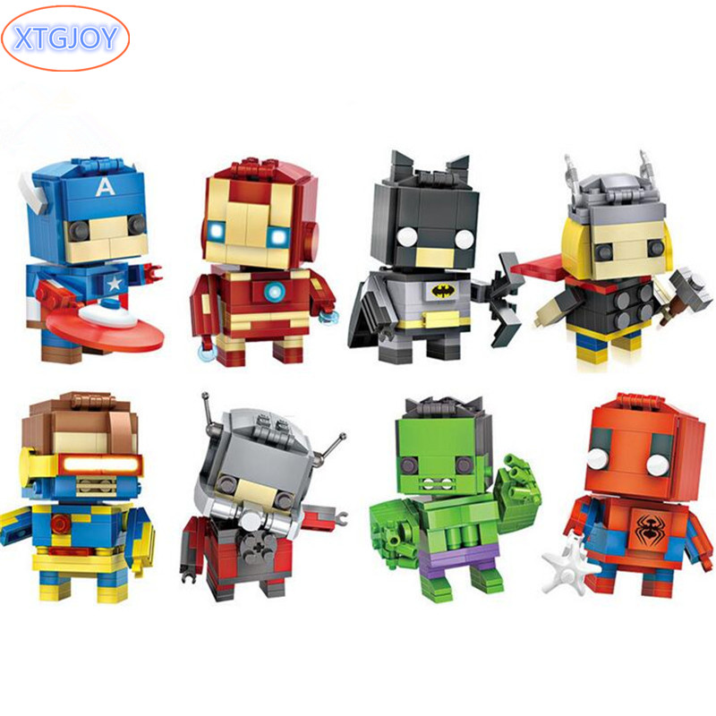 Superhero Avengers Iron Man Hulk Captain America Superman Batman Action Figures Gift Collection of Children's Toys 2017 new cartoon mask the avengers superhero led iron man mask action figure model toys halloween cosplay gift for adult