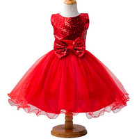 New Flower Girl Dresses Sequins Wedding Bridesmaid For Baby Children Toddler Teen Girls Party Kids Princess dress