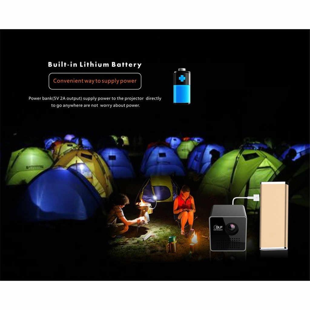 2019 nowy nowy gorący DLP P1 + H Mini projektor na WiFi przenośny projektor wideo Multimedia Home biznes mini kamera Drop wysyłka