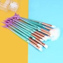 Makeup Mermaid Brush Set (11pcs /set)
