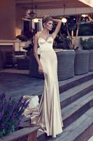 Long Mermaid Prom 2018 Sweetheart Satin Backless for Prom Sexy Party gown Longo Abendkleider vestido de noiva bridesmaid dresses