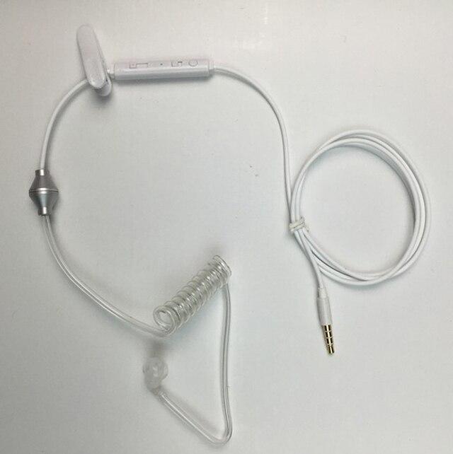 bilder für Zelle Handy Anti-radiation Kopfhörer Ohrhörer W/Lautstärkeregler Antwort Mic Rohr Agenten Spirale Headset Biegen 3,5mm Jack