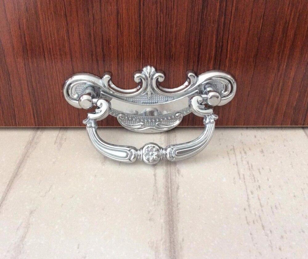 silver chrome drop pull drawer dresser handles cottage klichen cabinet pulls handles knobs furniture hardware 64mmin cabinet pulls from home improvement