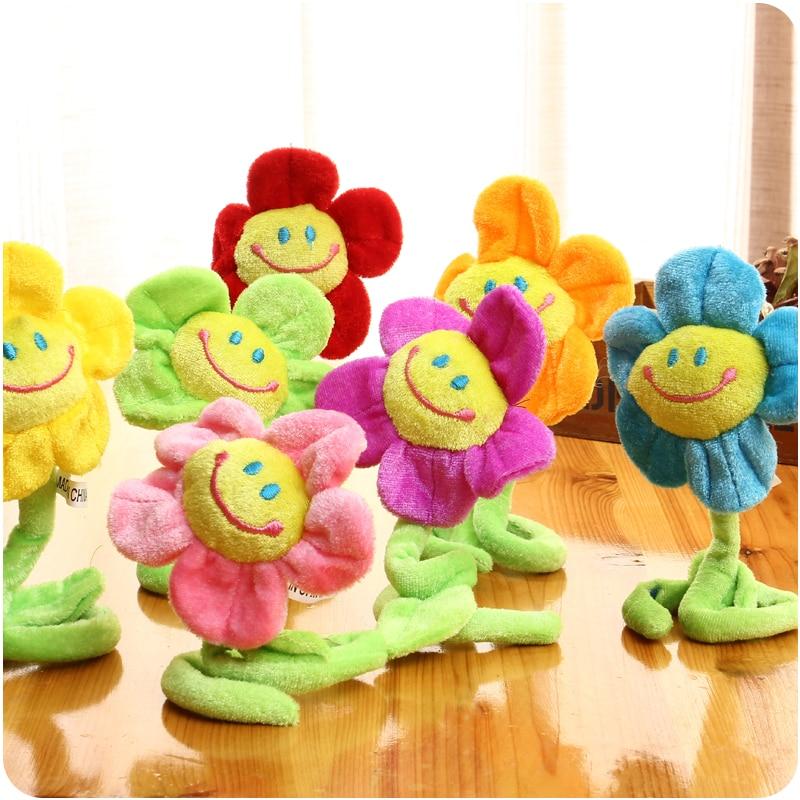 10 pcs Cortina Acessórios de decoração de casa Bonito dos desenhos animados Sorriso Girassol brinquedos de pelúcia criativo presente do Dia Dos Namorados Natal