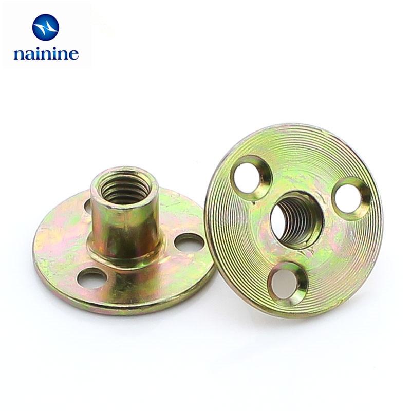 цены 5Pcs M6 M8 M10 Zinc Plated Lock Nut Furniture Nuts HW098