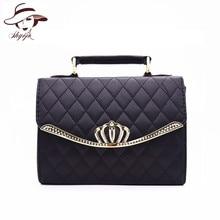 High Quality Classic Women Handbag Diamond Lattice Shoulder Crossbody Bags Quilted Plaid Crown Mini Elegant Ladies Messenger Bag