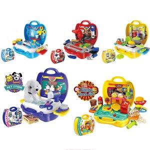 Image 3 - Keuken Pretend Play Kit Voedsel Speelgoed Miniatuur Educatieve Rol Speelhuis Spel Puzzel Cocina Juguete Gift Voor Meisje Kid Kinderen