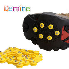 Demine 10 Tanden Nail voor Ice Sneeuw Klimmen Stijgijzers Spike Winter Outdoor Anti-slip Schoen Grijpers Cleats Spikes Glace vervanging(China)