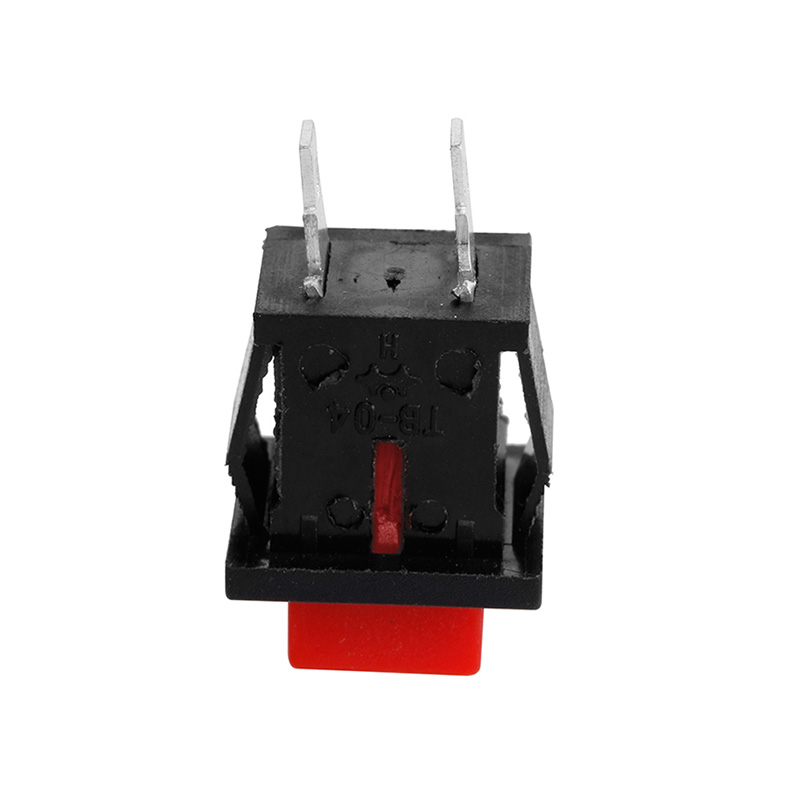 10Pcs 125VAC 1A Red Square SPST NonLocking Reset/Self-locking Push Button Switch - L057 New hot