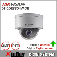 English Version Hikvision PTZ IP Camera DS 2DE2202 DE3 W 3MP Network Mini Dome Camera 4X