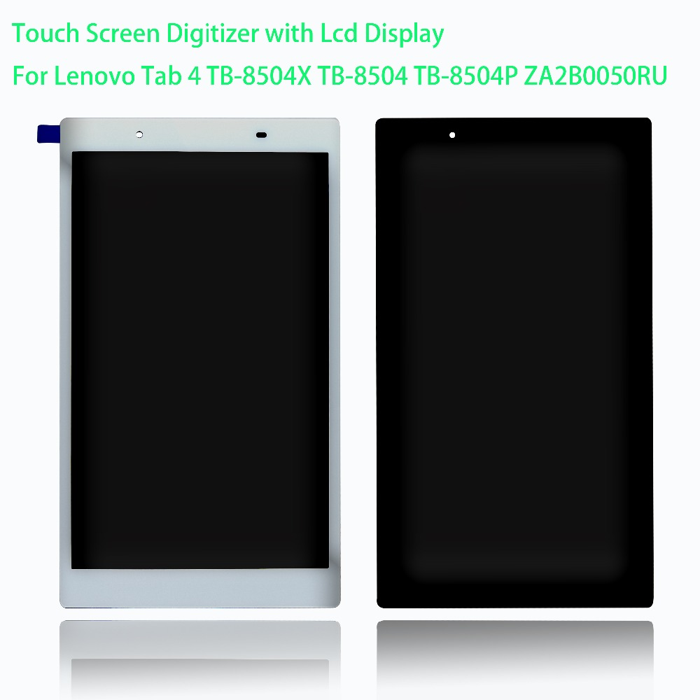 For Lenovo Tab 4 TB-8504X TB-8504 TB-8504P ZA2B0050RU 16Gb 1280x800 4G LTE 16Gb 8 LCD Display Touch Screen Digitizer Assembly