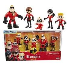 Pixar The Incredibles 2 Family Pack Junior Supers Figures Toys Dash Parr Jack Parr Elastigirl  4-10cm todd parr the family book