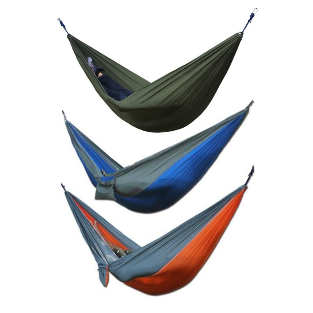 Portable Outdoor Hammock 280x 80cm 120 Kg Load-bearing Garden Sports Home Travel Camping Swing Canvas Stripe Hang Bed Hammock Camping & Hiking Camp Sleeping Gear