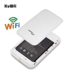 Image 5 - KuWFi 4G WIFI Router Sim Card Pocket LTE Router Mini Outdoor Routers Car Mobile Wifi Hotspot for hauwei Apple Xiaomi