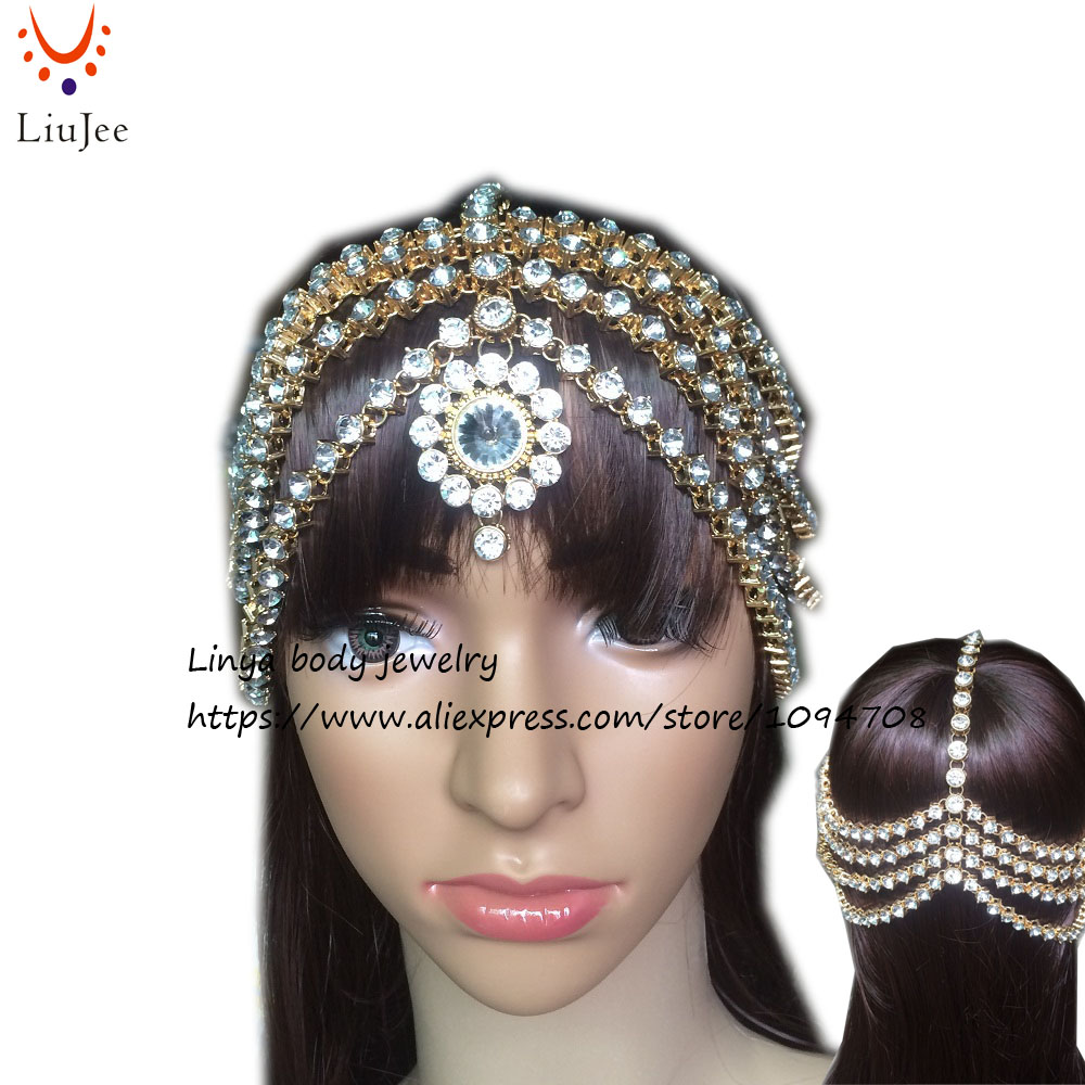 Full Diamante Kundan Matha Patti Wedding Bridal Goddess  Boho Head Chain Hair Jewelry Head Piece Bollywood Wedding HC-331Full Diamante Kundan Matha Patti Wedding Bridal Goddess  Boho Head Chain Hair Jewelry Head Piece Bollywood Wedding HC-331