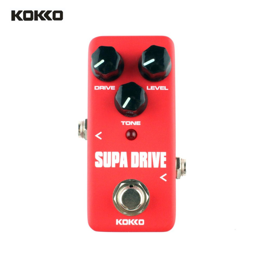 KOKKO FOD5 Mini Supa Drive Electric Guitar Effect Pedal Warm and Clean Overdrive Effect  ...