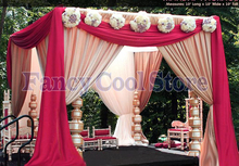 Square Canopy Curtain with Stand Pavilion Frame with Backdrop Curtain Churppah drapes