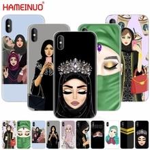 Хиджаб красивые мусульманские девушки женщины сотовый телефон чехол для iphone X 8 7 6 4 4S 5 5S SE 5c 6s plus