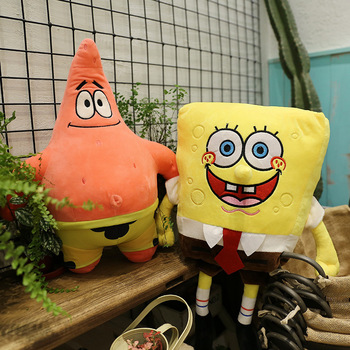 20cm Kawaii SpongeBob Plush Toys Cartoon Patrick Star Movie Characters Anime Stuffed Doll Patrick Children Birthday Gift 40 100cm giant cute baby toy spongebob patrick star plush toys cartoon soft animal pillow anime doll children kids birthday gift