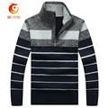 Men 's Sweater 2017 Spring New Thick Long - Sleeved Sweater Zipper Men Plus Size Cashmere Sweater Brand Clothing Men Turtleneck