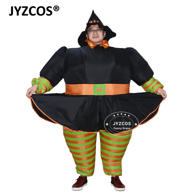 JYZCOS Adult Witch Inflatable Costume Halloween Costumes for Women Purim  Christmas Cosplay Party Costume Inflatable Witch 530b7179cdf3