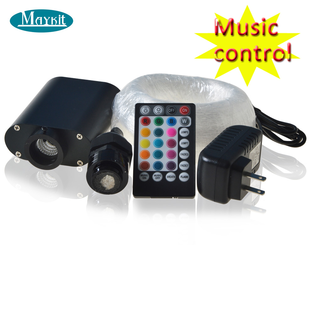 Maykit Mixed Star Car Roof Musical LED Fiber Optic 12VDC 12W Sound Active Star Ceiling Lighting