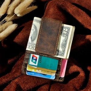 Image 4 - Nam Ban Đầu Thiết Kế Da Du Lịch Thời Trang Mỏng Nhẹ Túi Trước Từ Công Suất Lớn Kẹp Tiền Thẻ Dành Cho Nam 1025