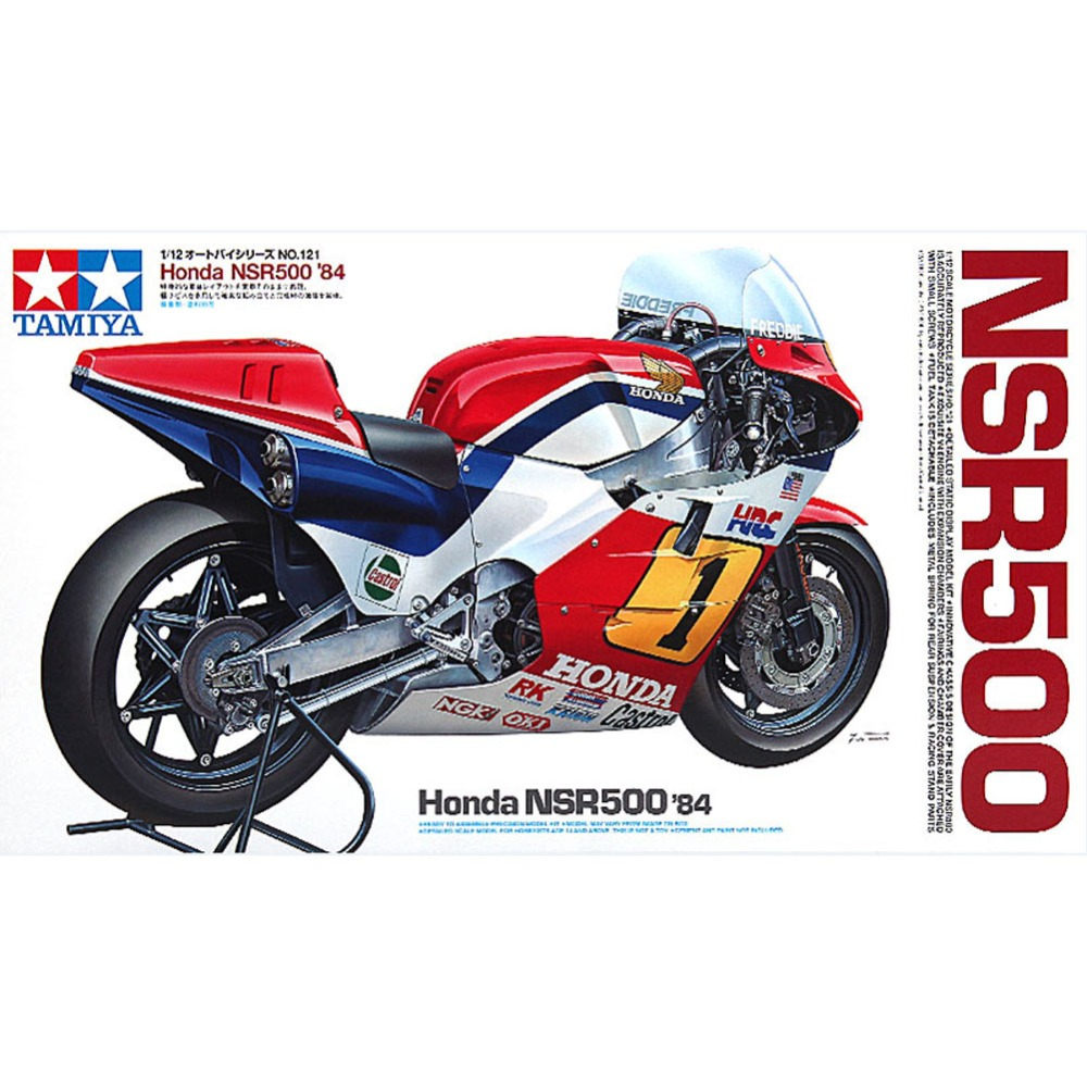 OHS Tamiya 14121 1/12 NSR500 84 Scale Assembly Motorcycle Model Building Kits ohs tamiya 14101 1 12 desmosedici scale assembly motorcycle model building kits