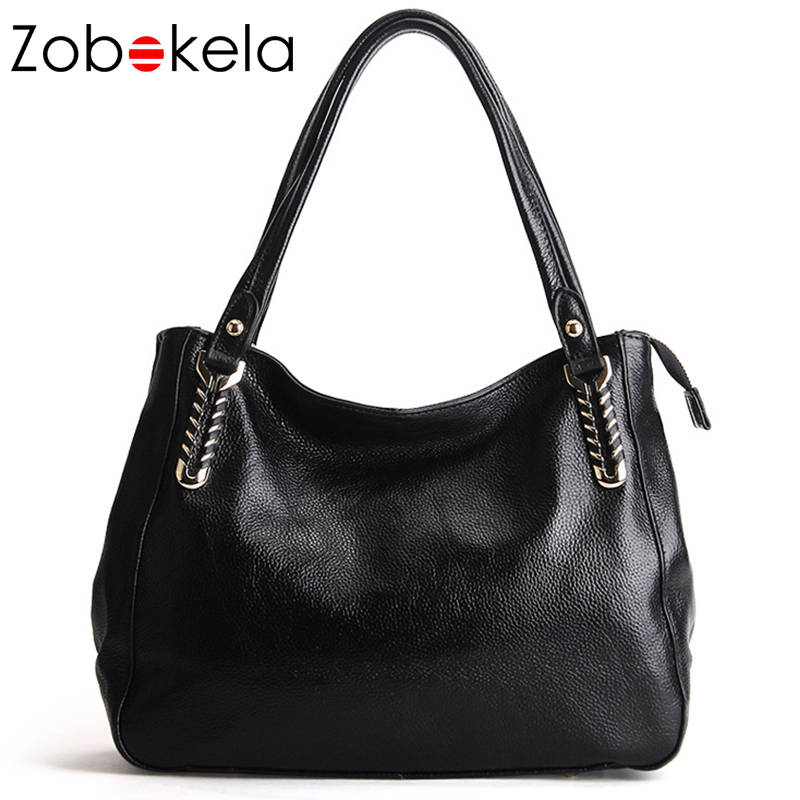 ZOBOKELA Luxury Handbags Women Bags Designer Famous Brand Genuine Leather Bag Female Crossbody Messenger Shoulder Bag Tote black giaevvi luxury handbags split leather tote women messenger bags 2017 brand design chain women shoulder bag crossbody for girls