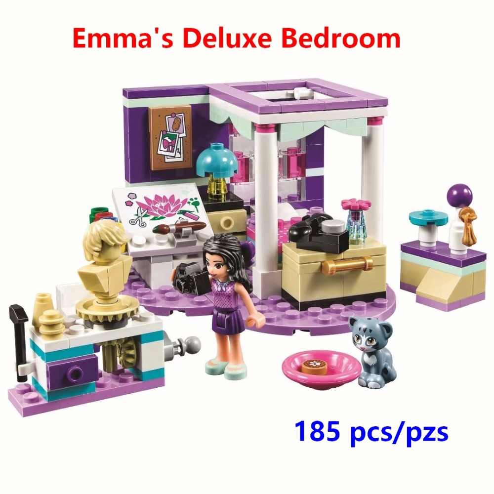 New Princess Emma's Deluxe Bedroom Building Blocks Model Kits Compatible with Lego Friends 41342 Toys Gift for Girl Kids