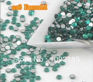 SS6 Emerald   Color 10000pcs/pack Flatback Acrylic Rhinestones Nail Art Rhinestones Free Shipping ss6 light rose color 10000pcs pack flatback acrylic rhinestones nail art rhinestones free shipping