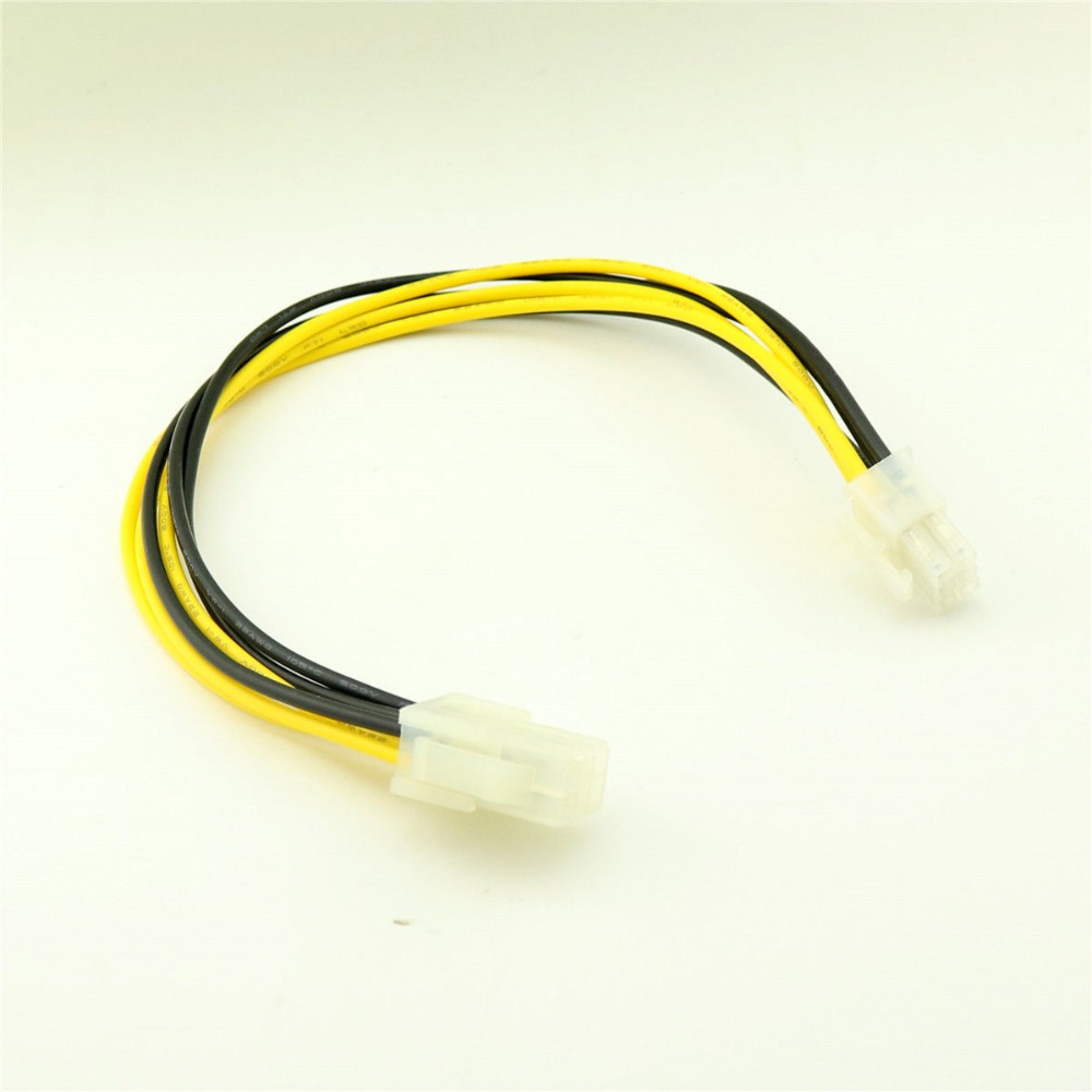 1pcs 6 PIN 12V ATX EPS POWER EXTENSION CABLE MALE TO FEMALE MOTHERBOARD CPU 30CM 1FT