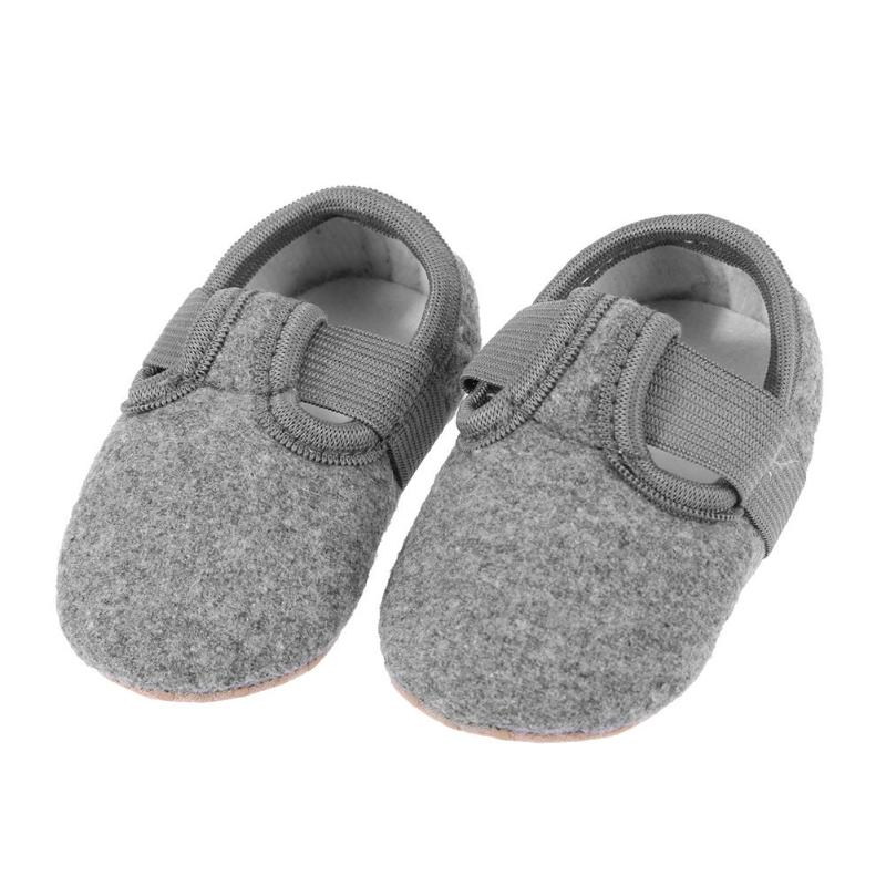 Spring Unisex Baby Moccasins Cotton Solid Soft Bottom Shoes Infant Toddler Anti-skid First Walkers Newborn Slippers Crib Shoes