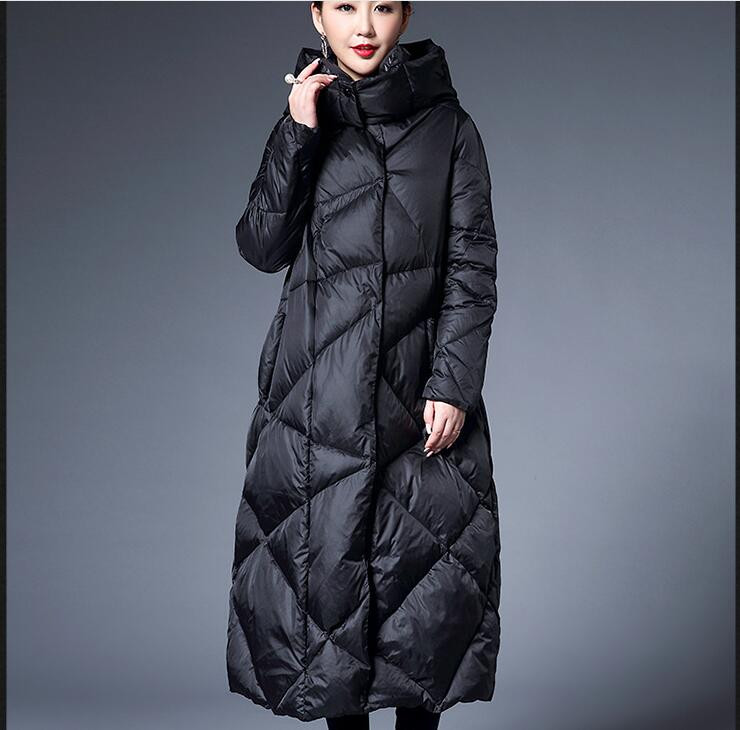 Fur CollarWomen   Down     Coat   Long Winter   Coat   Plus Size Winter   Down   Jacket Custom made Any SIze Reserved for Daciana Deng