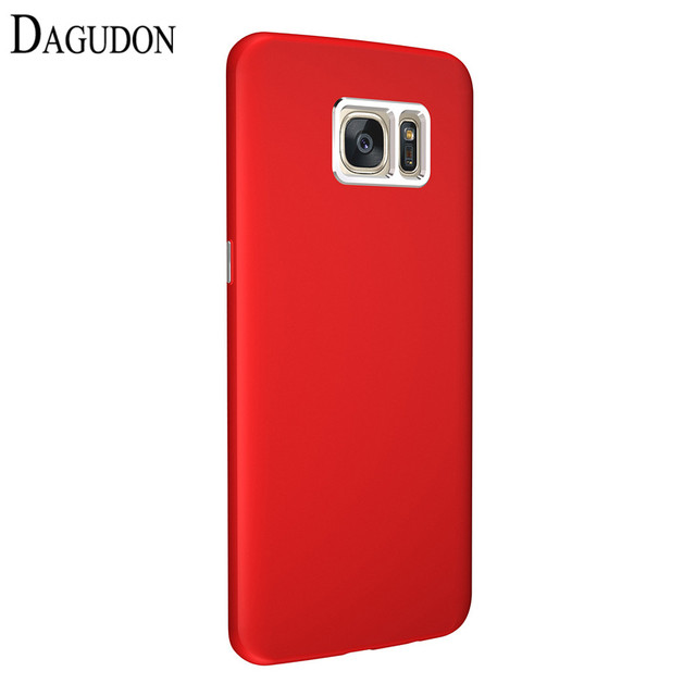 the latest 0495c a9468 Aliexpress.com : Buy DAGUDON Luxury Case For Samsung Galaxy s7 Edge Red  Rubber Silicon Phone Cases Soft TPU Back Cover For Samsung S7 Edge case  coque ...