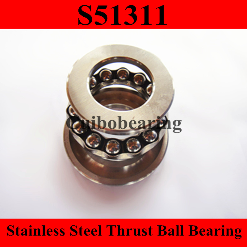 S51311 stainless steel thrust ball bearing size:55x105x35mm