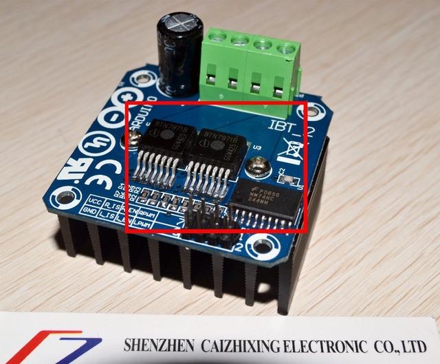 O Envio gratuito de Alta-potência do carro inteligente módulo de acionamento do motor BTS7960/BTN7971 43A unidade de refrigeração de semicondutores para arduino