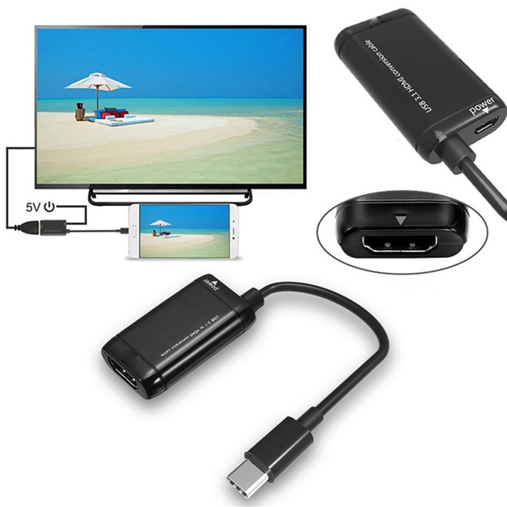 type c to hdmi hub adapter switch Type-C USB3.1 Male To 1080P HDMI Female Video Adapter Converter Cable For HDTV z7