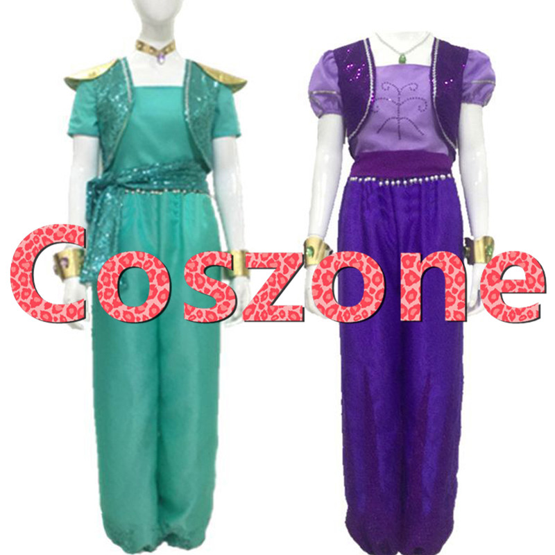 Shimmer Shine Cosplay Costume Shimmer Dress Halloween Carnival Party Costume Custom