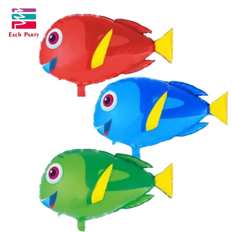 Animal balloon dolly fish foil balloons children classic toys Inflatable toys  h