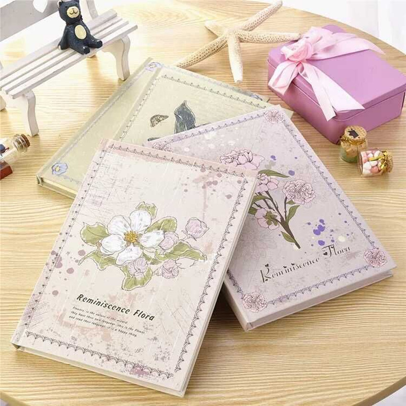 Hardcover Stationery Hard Surface Diary Notebook Memo Book Student NotePads A5 Office Notepad Retro Fashion Exquisite Girls Gift 365 day thick hardcover personal diary