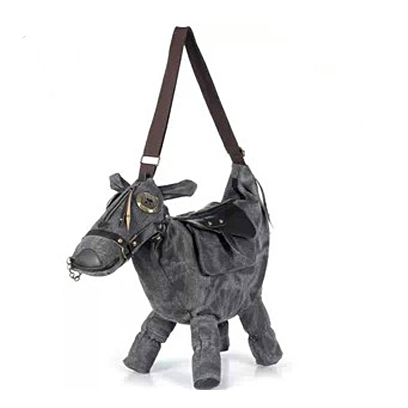 Women Messenger Bags Travel Bag Pack Mochila Bolsos Mujer Hot Animal Bag Creative 3D Pony Donkey Horse Shape Female Shoulder Bag