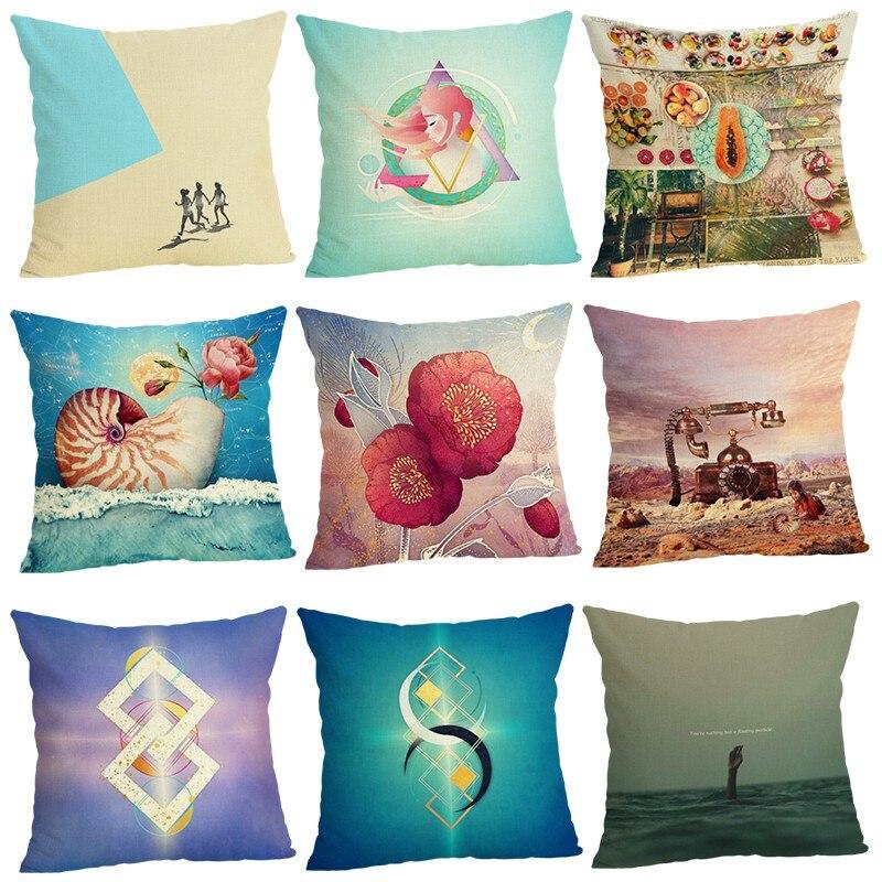 Creative Cushion Cover Home Decor Case Houseware Throw Pillowcase Linen Square 45x45cm Cojines